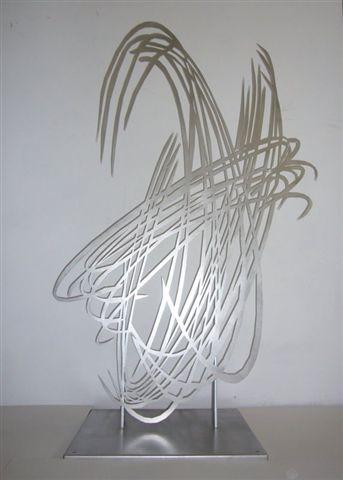 Barbara Szüts | Spiegelung 1 | 2009 | 180 x 130 x 0,3 cm |