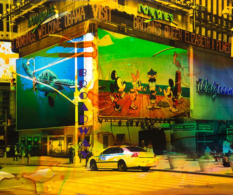 NY Reloaded H 3 | 2018 |Malerei und Siebdruck auf Fotografie | 60 x 90 x 5 cm | 4400 Euro