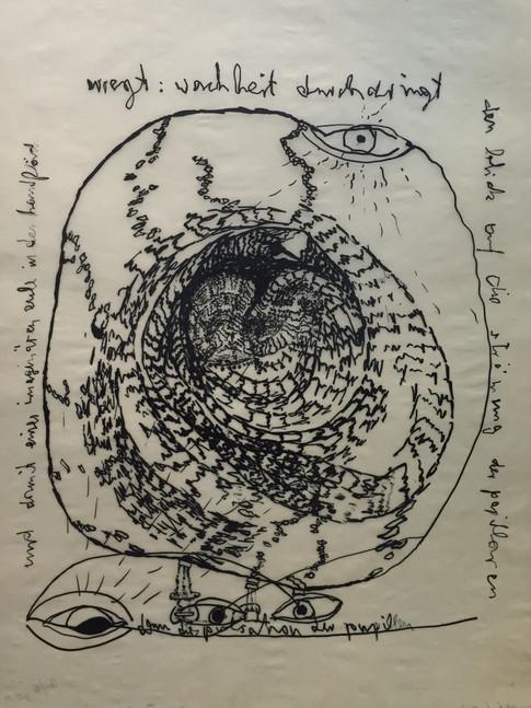 Carlfriedrich Claus | Psychologische Improvisation IV | 1972 | 49 x 36 cm