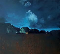 Thomas Geyer | Vor der Nacht | 2020 | Eitempera auf Leinwand | 90 x 100 cm | 2300 Euro