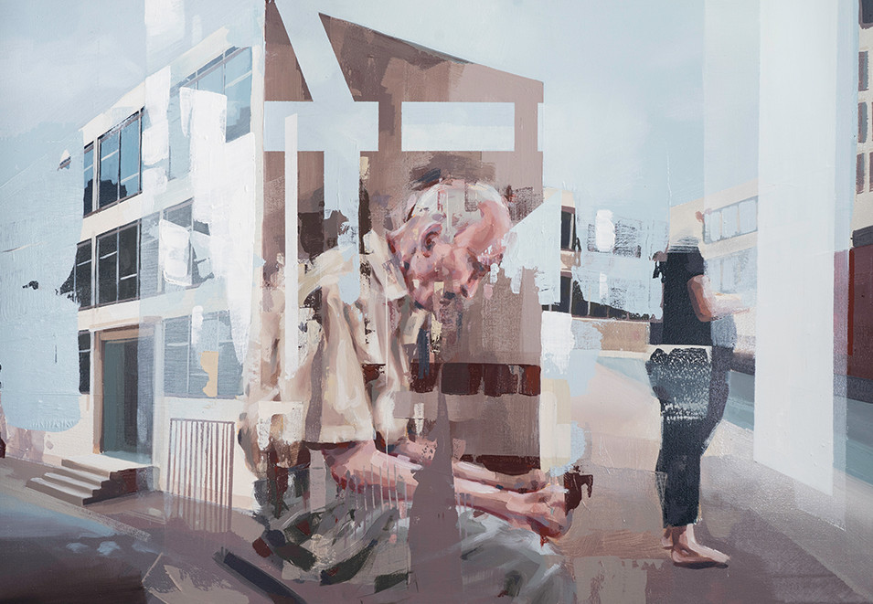 Franz Ehrenberg | Warten | 2016 | Öl auf Leinwand | 120 x 80 cm | verkauft