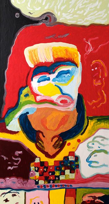 Florian Merkel | Thersites | 2015 |Acryl auf Leinwand | 145 x 70 cm