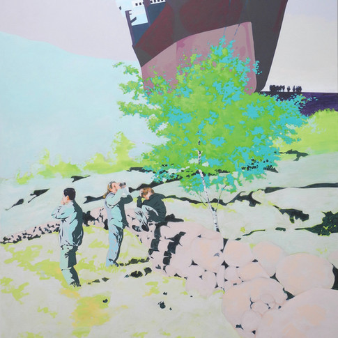 Pierre Fischer   Ornithology   2012   Öl und Acryl auf Leinwand   180 x 140 cm  6900 Euro