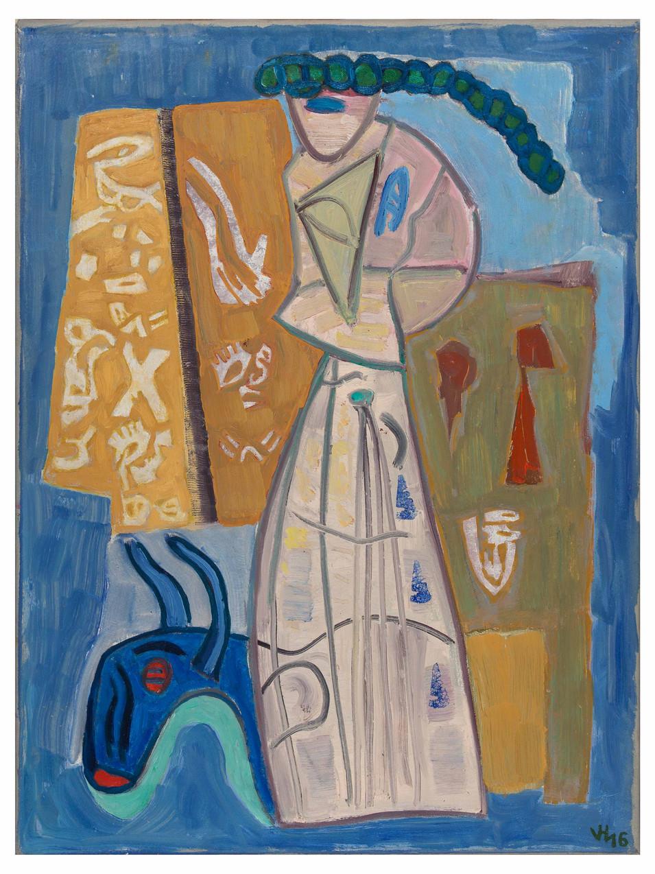 Veit Hofmann | Zauberkünstler | 2016 | Öl auf Leinwand | gerahmt | 80 x 60 cm | 3400 Euro
