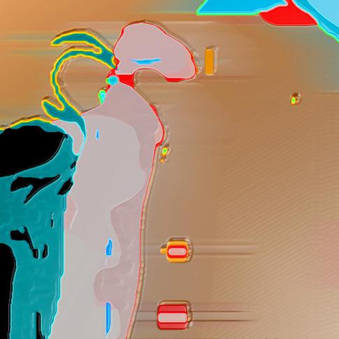 Anna Kasten | o.T. | 2011 | Mischtechnik, Rohdruck | 60 inch x 120 inch | 300 Euro
