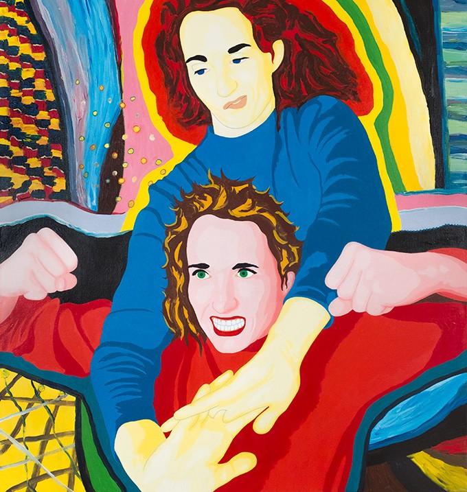 Florian Merkel I 2019 I acrylic colours on canvas I 110 x 110 cm I 4800 Euro