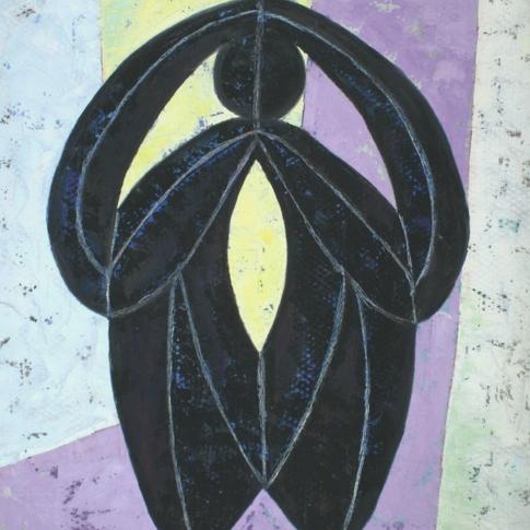 Georg Paul I Phantastische Figur I 1960(61) I Öl auf Papier I 87 x 67 cm I 3000 Euro