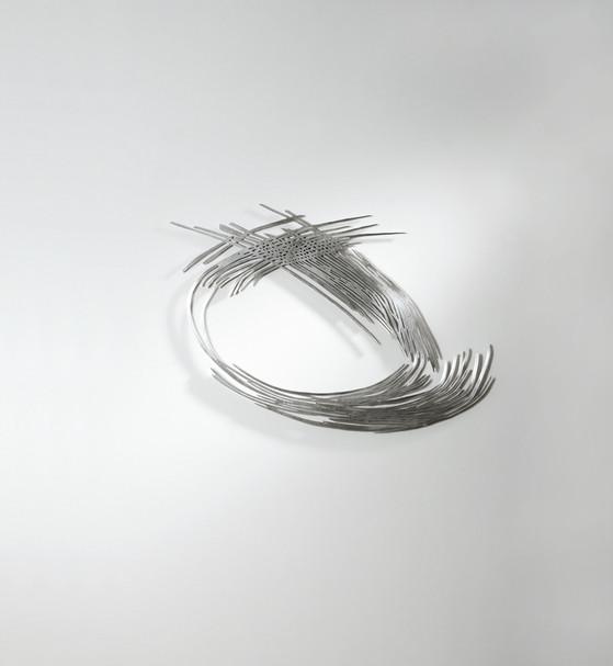 Barbara Szüts | Wave 1 | 2014 | Skulptur Aluminium | 75 x 56 x 0,5 cm | Auflage 6 + 2AP  | 3600 Euro