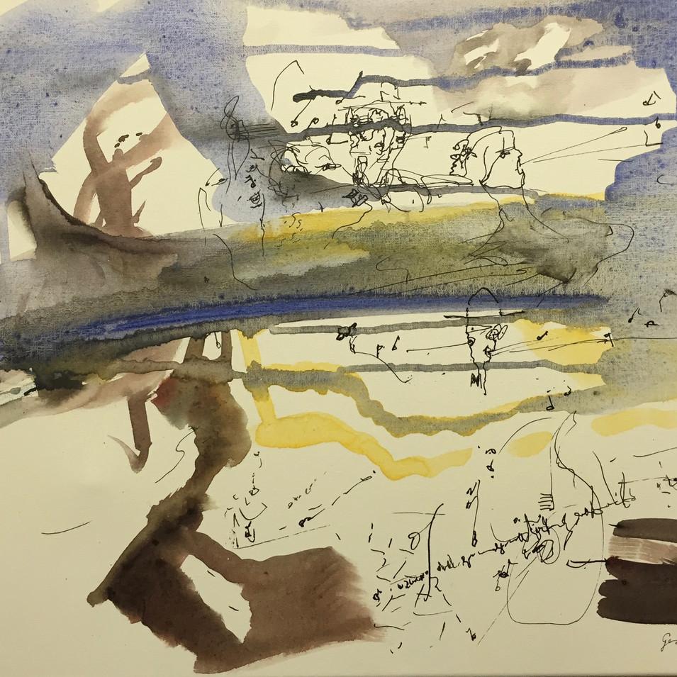 Dagmar Ranft-Schinke   Gesangsproben   2008   Acryl auf Leinwand   40 x 50 cm   950 Euro