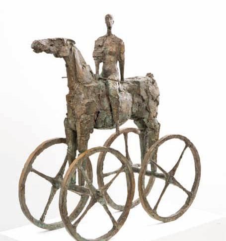 Michael Jastram | Reiterin (Pferde-Wagen) | 2012 | Bronze | 4/6 | 71 x 64 x 33,5 cm | 19600 Euro