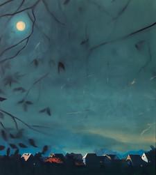 Thomas Geyer | Aus der Ferne | 2020 | Eitempera auf Leinwand | 100 x 90 cm | 2900 Euro
