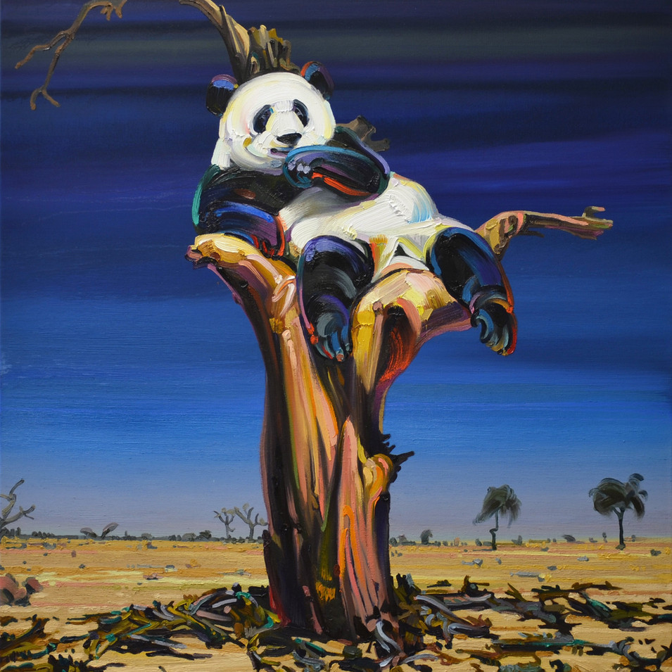 Changmin Lee| Pandabaum | 2016 | Öl auf Leinwand | 130 x 110 | 6000 Euro