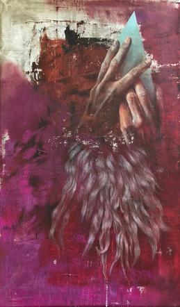 Isabelle Dutoit | Hände (Löwe) | 2015 | Öl auf Leinwand | 50 x 30 cm | 2200 Euro