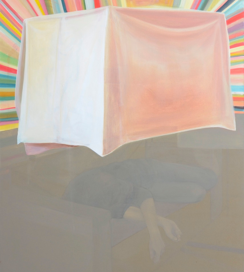 Melanie Kramer | Gehäuse-III | 2013 | Öl auf Leinwand | 135 x 115 cm | 2750 Euro