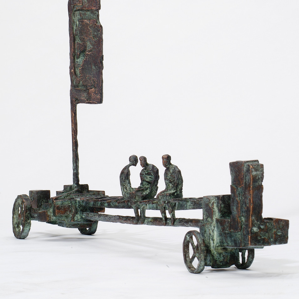 Michael Jastram | Einsame Fahrt | 2005 | Bronze | 2/6 | Länge 96 cm | 8800 Euro
