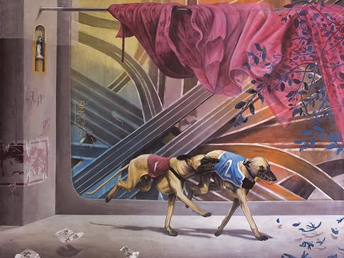 Axel Teichmann   Kreuzung   2008   Acryl auf Leinwand   160 x 200 cm   10800 Euro