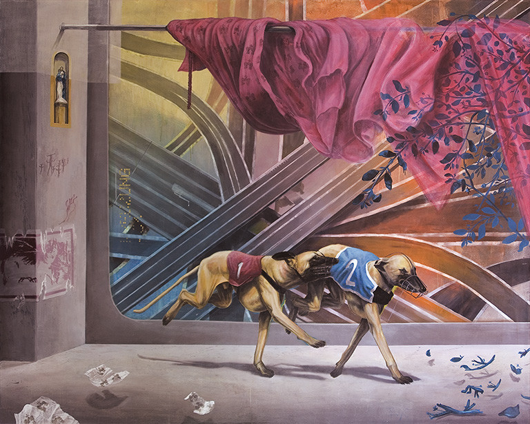 Axel Teichmann | Kreuzung | 2008 | Acryl auf Leinwand | 160 x 200 cm | 10800 Euro