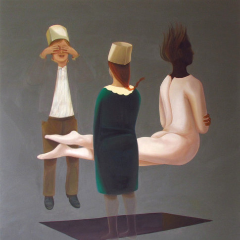 Melanie Kramer | Versammlung V | 2015 | Öl auf Leinwand | 155 x 145 cm | 3300 Euro