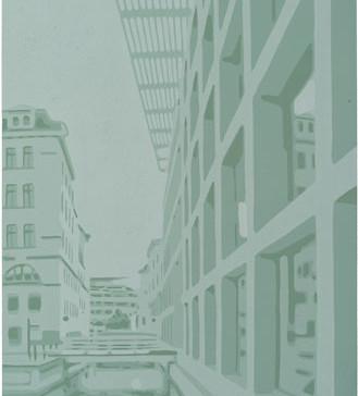 Harald Alff | Leipzig | Farbholzschnitt | 2013 | Papierformat 60 x 42 cm | Grafikformat 48 x 32 cm | 150 Euro