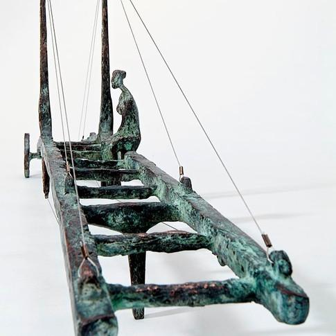 Michael Jastram | Brückenwagen | 2004 | Bronze | Länge 111 cm | 8400 Euro