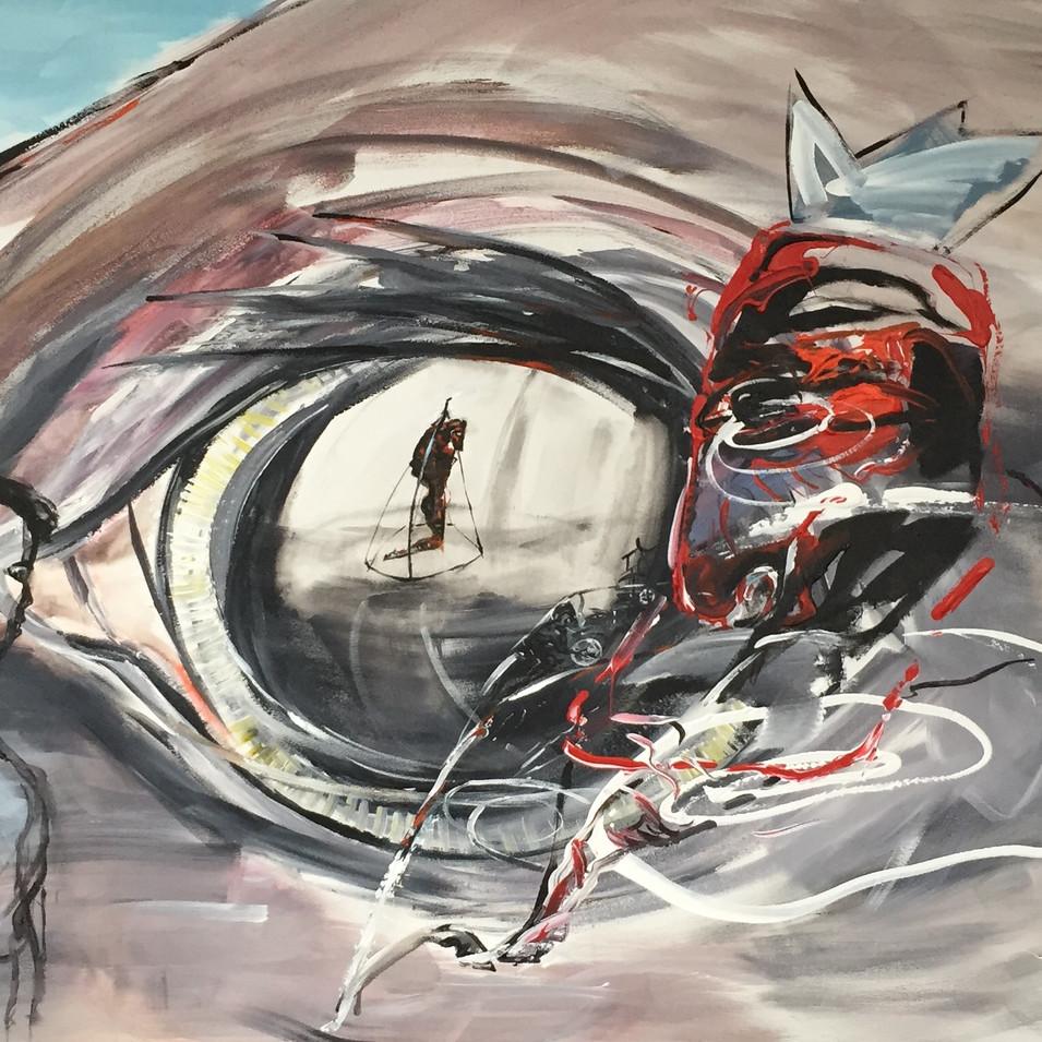 Dagmar Ranft-Schinke   Alis Tiergeister   2014   Acryl auf Leinwand   100 x 160 cm   6500 Euro