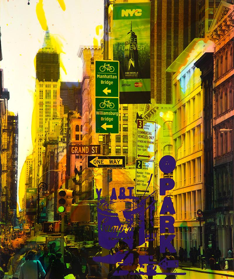 NY Reloaded A 22 | 2017 | Malerei und Siebdruck auf Fotografie | 75 x 50 x 5 cm | 3000 Euro