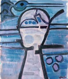 Veit Hofmann | Kopf mit Vogel | 2012 | Öl auf Leinwand | 60 x 50 cm | 2600 Euro