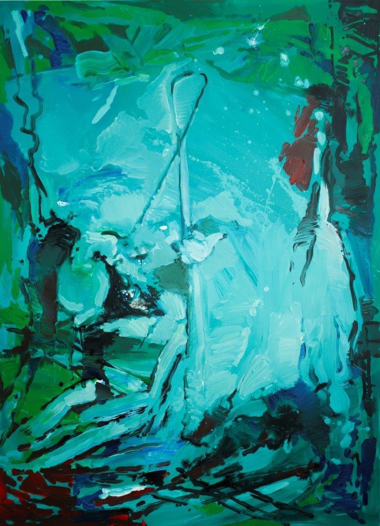 Eckehard Fuchs | Watery Ground | 2016 | Acryl auf Leinwand | 180 x 130 cm | 4900Euro