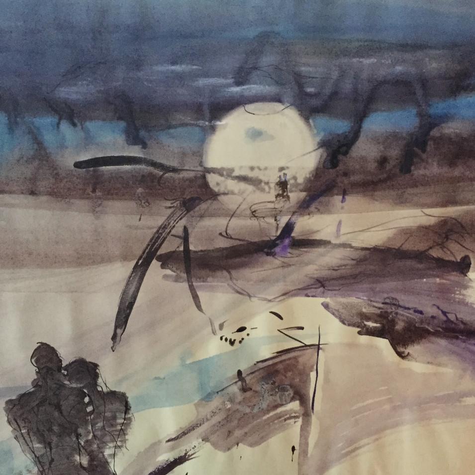 Dagmar Ranft-Schinke   Nacht   2013   Aquarell und Tusche auf Papier   55 x 74 cm   1300 Euro