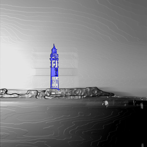 Anna Kasten | Leuchtturm Sylt | 2020 I Inkjet Karton | 29,7 x 21 cm | 80 Euro