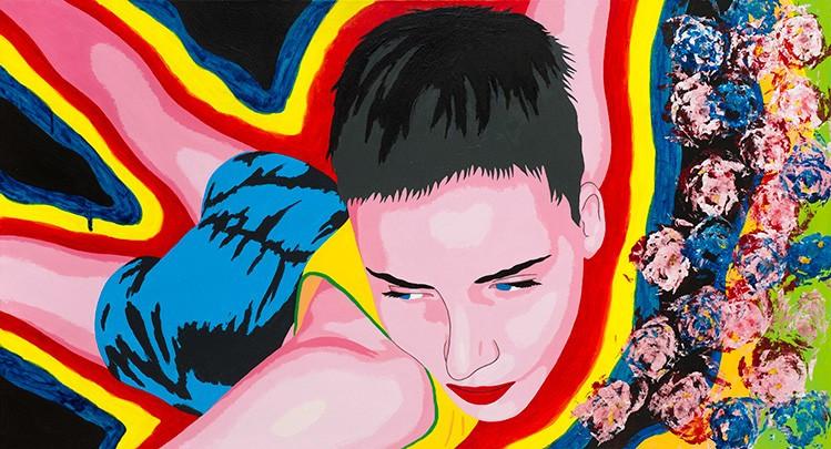Florian Merkel I Thetis I 2019 I acrylic colours on canvas I 60 x 110 cm I 3700 Euro