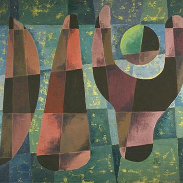 Georg Paul I Komposition 351 I 1961 I Öl auf Leinwand I 71 x 80 cm I 3000 Euro