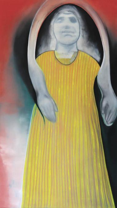 Marie-Christin Rothenbücher | Schutzpatron | 2017 | Öl auf Leinwand | 48 x 85 cm | 1200 Euro