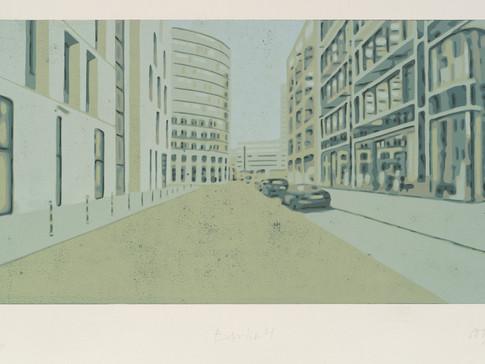 Harald Alff | Berlin 4 | FHS | 2013 | Papierformat 50 x 70 cm | Grafikformat 31,5 x 60 | 180 Euro