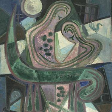 Georg Paul I Liebespaar I o. J. I Öl auf Pappe I 84 x 67 cm I 3050 Euro