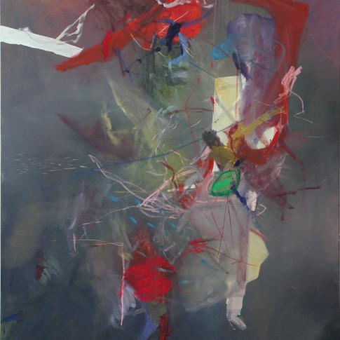 Vivien Nowotsch | O.T. 2 | 2012 | Öl, Pastellkreide auf Leinwand | 150 x 120 cm | 2900 Euro
