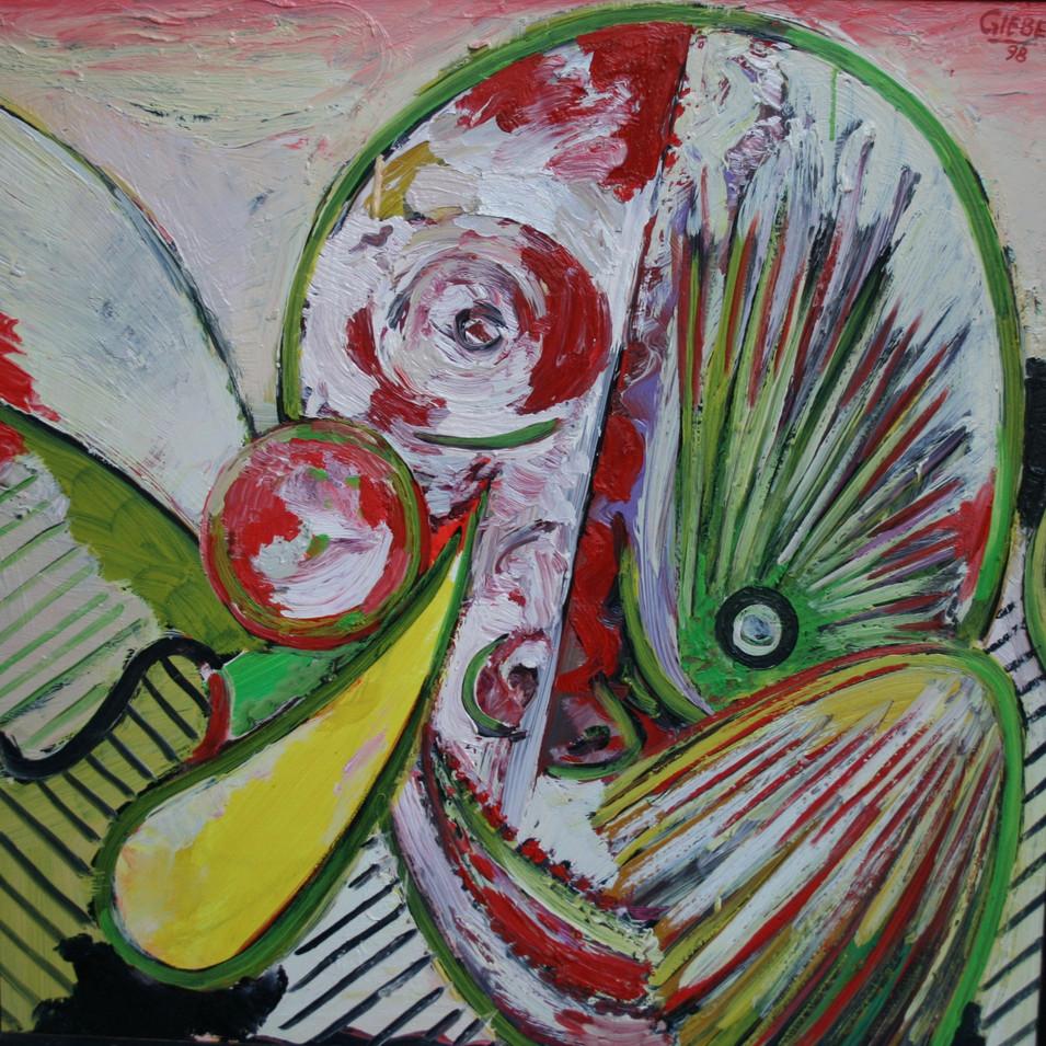 Hubertus Giebe   o.T.   1998   Ölfarbe auf Leinwand   62 x 62 cm   4300 Euro