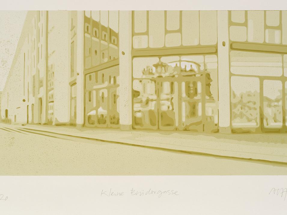 Harald Alff | kl. Brüdergasse (DD) | FHS | 2012 | Papierformat 50 x 70 cm | Grafikformat 31,5 x 60 | 180 Euro