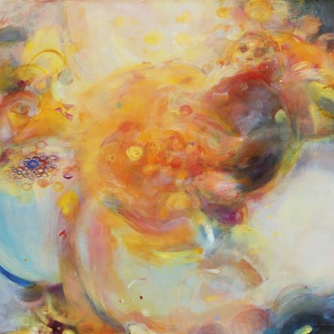 Caroline Scheel | o.T. (Arise) | 2015 | Öl auf Mischgewebe | 125,2 x 160,4 cm| 1700 Euro