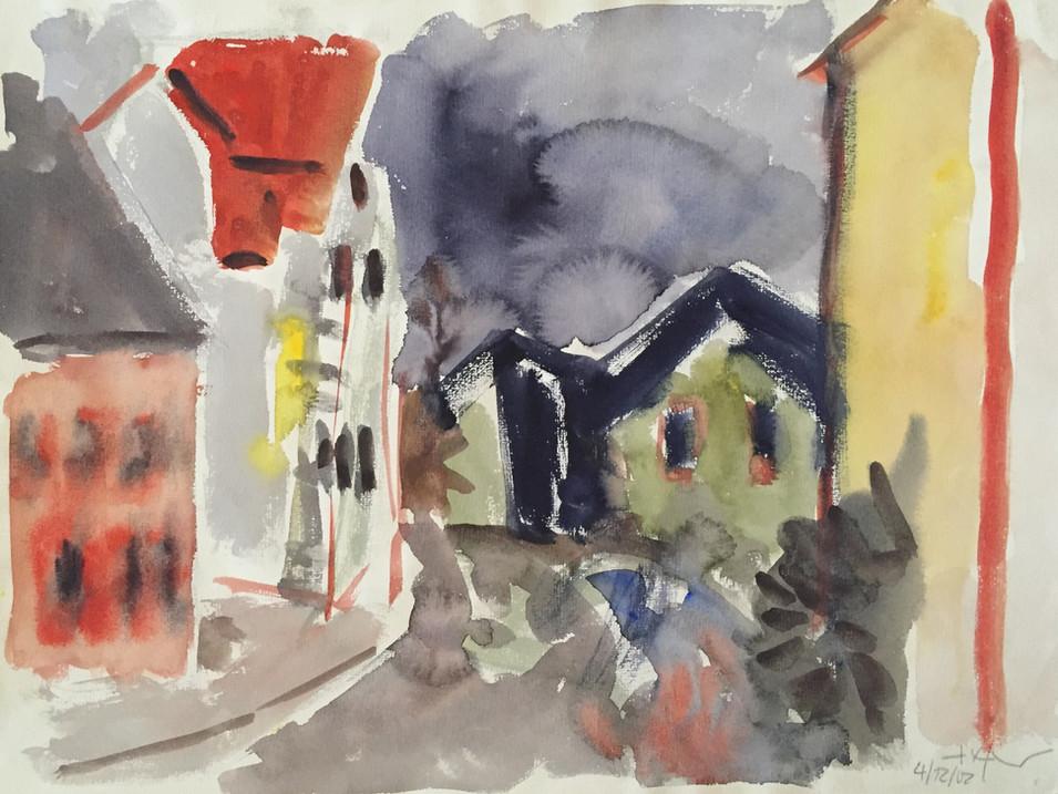 Heinz Tetzner   o.T.   4/12/02   Aquarell   36 x 48 cm   1100 Euro