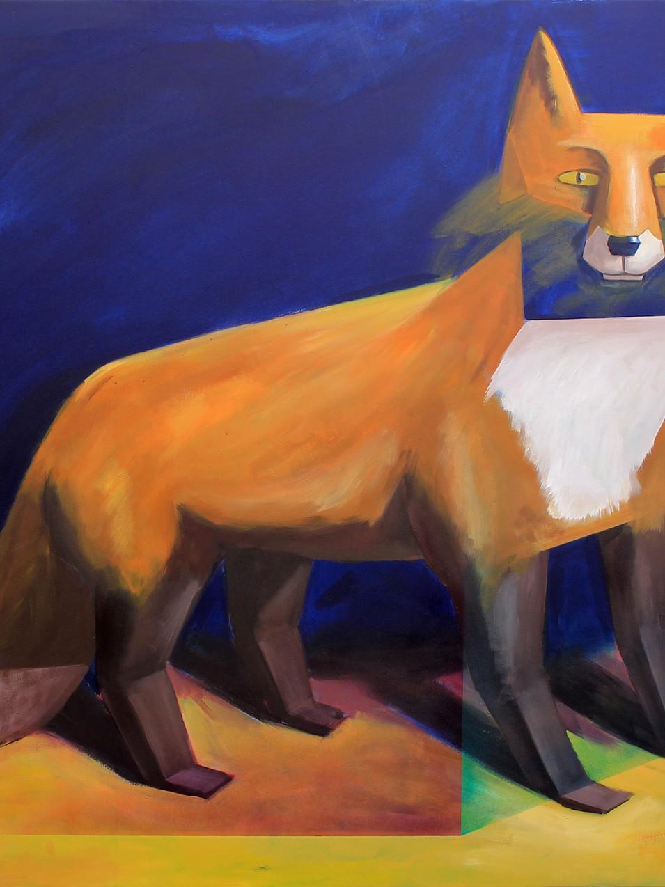 Philipp Weber|Fux|2013 | Acryl auf Leinwand | 119 x 99 cm | 2390 Euro