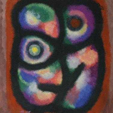 Georg Paul I Farbliche Komposition 420 I Öl auf Papiper I 58 x 49 cm I 2150 euro