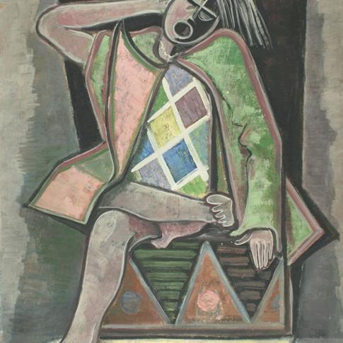 Georg Paul I Clown I o. J. I Öl auf Pappe I 85 x 68 cm I 3050 Euro