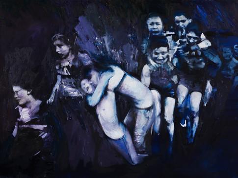 Martin Paul Müller | Läufer | 2016 | Öl auf Leinwand | 150 x 230 cm