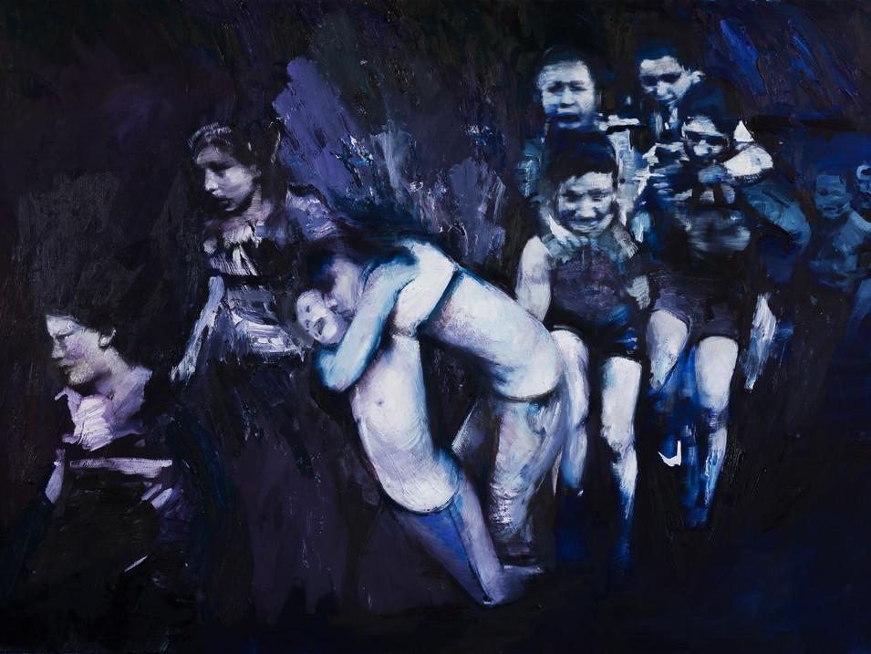 Martin Paul Müller   Läufer   2016   Öl auf Leinwand   150 x 230 cm