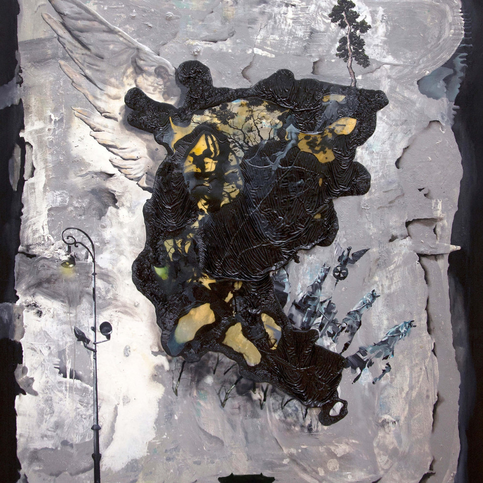 HaNuk Jung | Fittich | 2014 | Öl und Emaille auf Leinwand | 160 x 130 cm | 5800 Euro