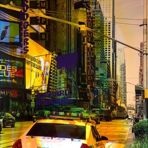 NY Reloaded A 21 | 2017 | Malerei und Siebdruck auf Fotografie | 75 x 50 x 5 cm | 3000 Euro