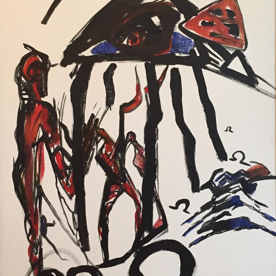 Dagmar Ranft-Schinke   Orakel   1994   Acryl auf Leinwand   100 x 70 cm   3 Werke = 7000 Euro