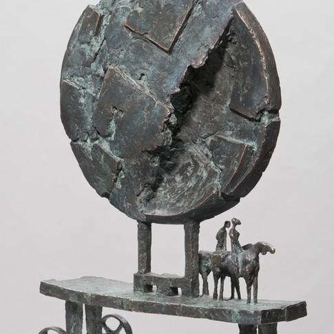 Michael Jastram | Zwei-Brüder-Wagen | 2009 | Bronze | 5/6 | 58 x 39,5 x 13,5 cm | 10400 Euro