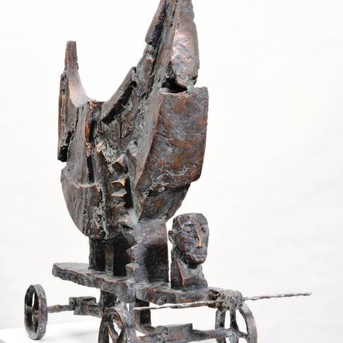 Michael Jastram | Mondwagen III | 2007 | Bronze | 2/6 |55 x 58 x 25 cm | 10600 Euro